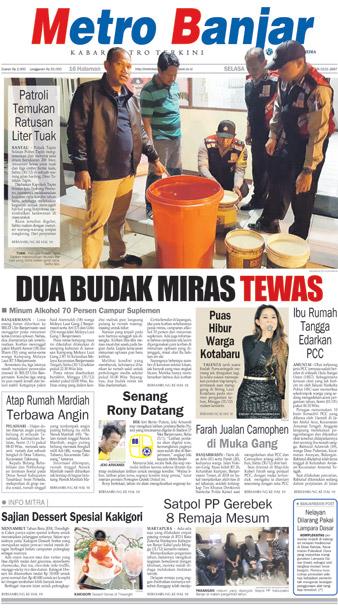 Metro Banjar Selasa, 2 Januari 2018