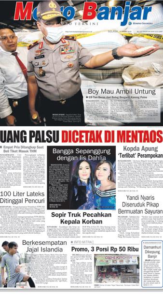 Metro Banjar Selasa, 9 Januari 2018