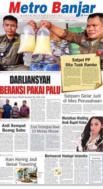 Metro Banjar Rabu, 10 Januari 2018