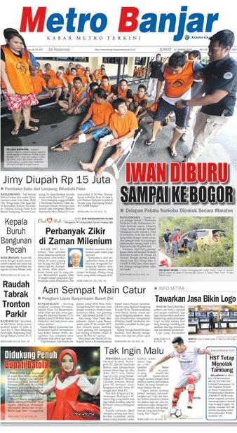 Metro Banjar Jumat, 12 Januari 2018