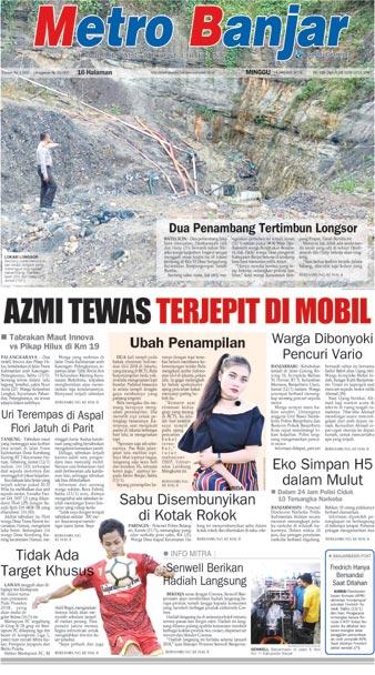 Metro Banjar Minggu, 14 Januari 2018