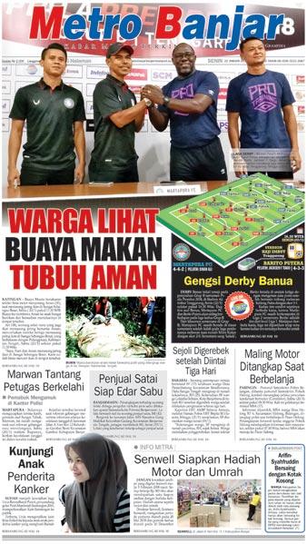 Metro Banjar Senin, 22 Jan 2018
