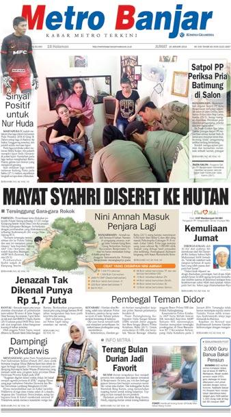 Metro Banjar Jumat, 26 Jan 2018