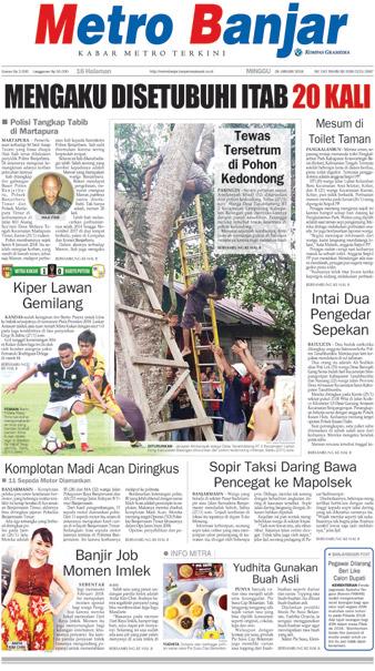 Metro Banjar Minggu, 28 Jan 2018