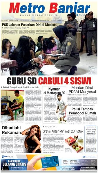 Metro Banjar Rabu, 31 Jan 2018